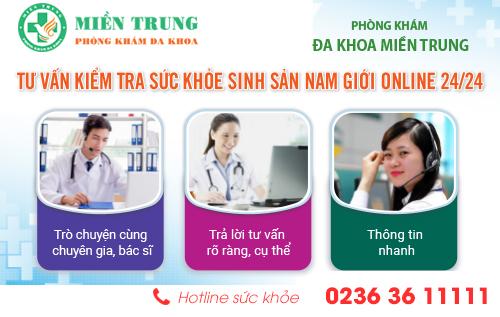 Tư vấn kiểm tra sức khỏe sinh sản online 24/24 tại Phòng khám Đa khoa Miền Trung